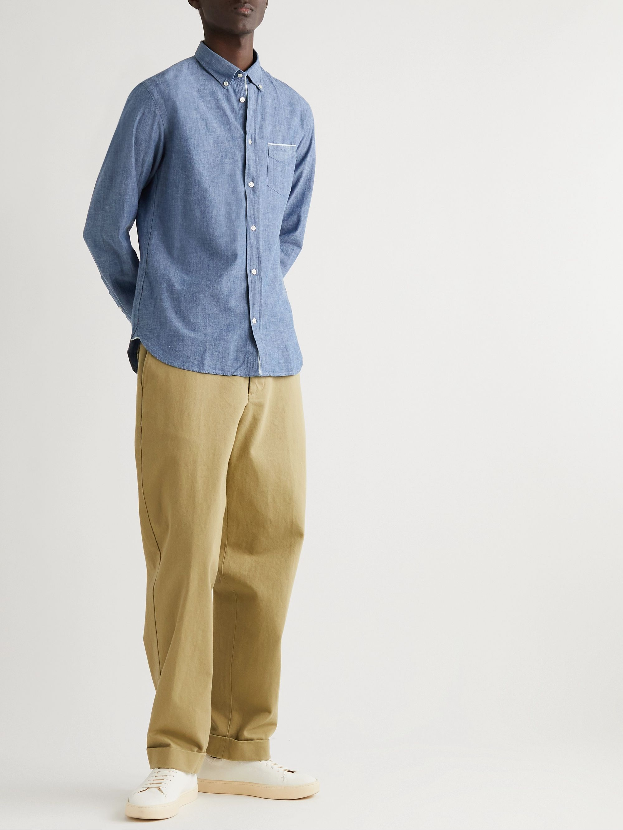 Officine Generale Cotton-Chambray Shirt