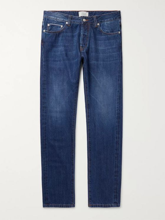 Officine Generale Slim-Fit Washed-Denim Jeans
