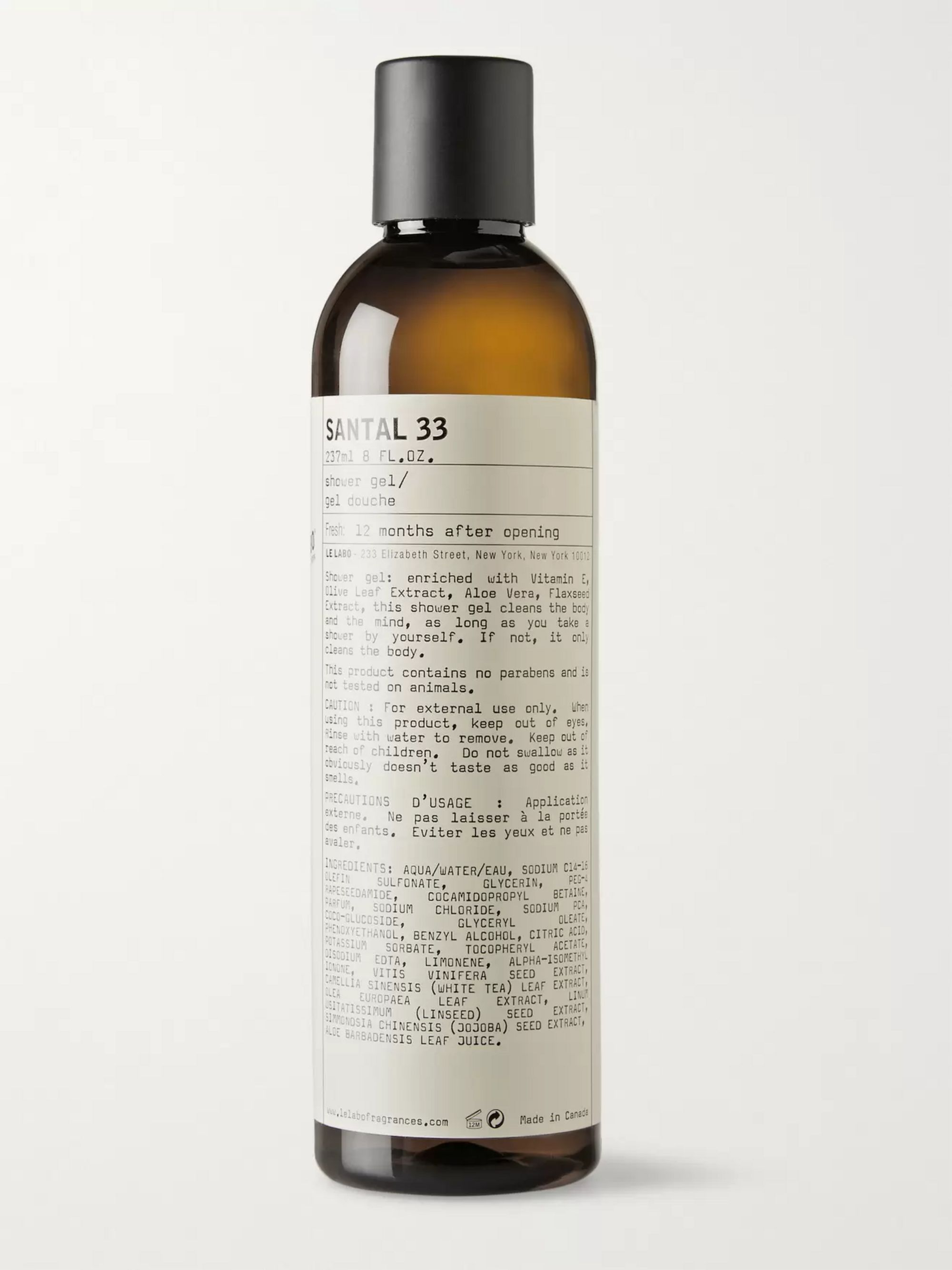 Le Labo Shower Gel - Santal 33, 237ml