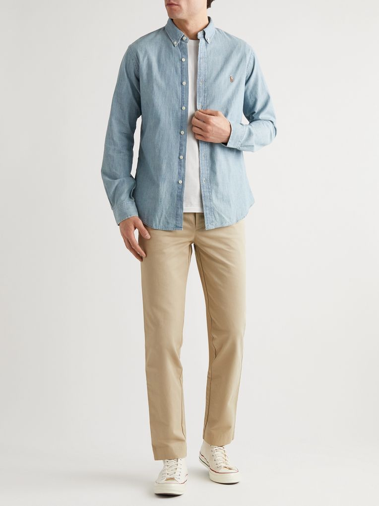 Polo Ralph Lauren Slim-Fit Washed Cotton-Chambray Shirt