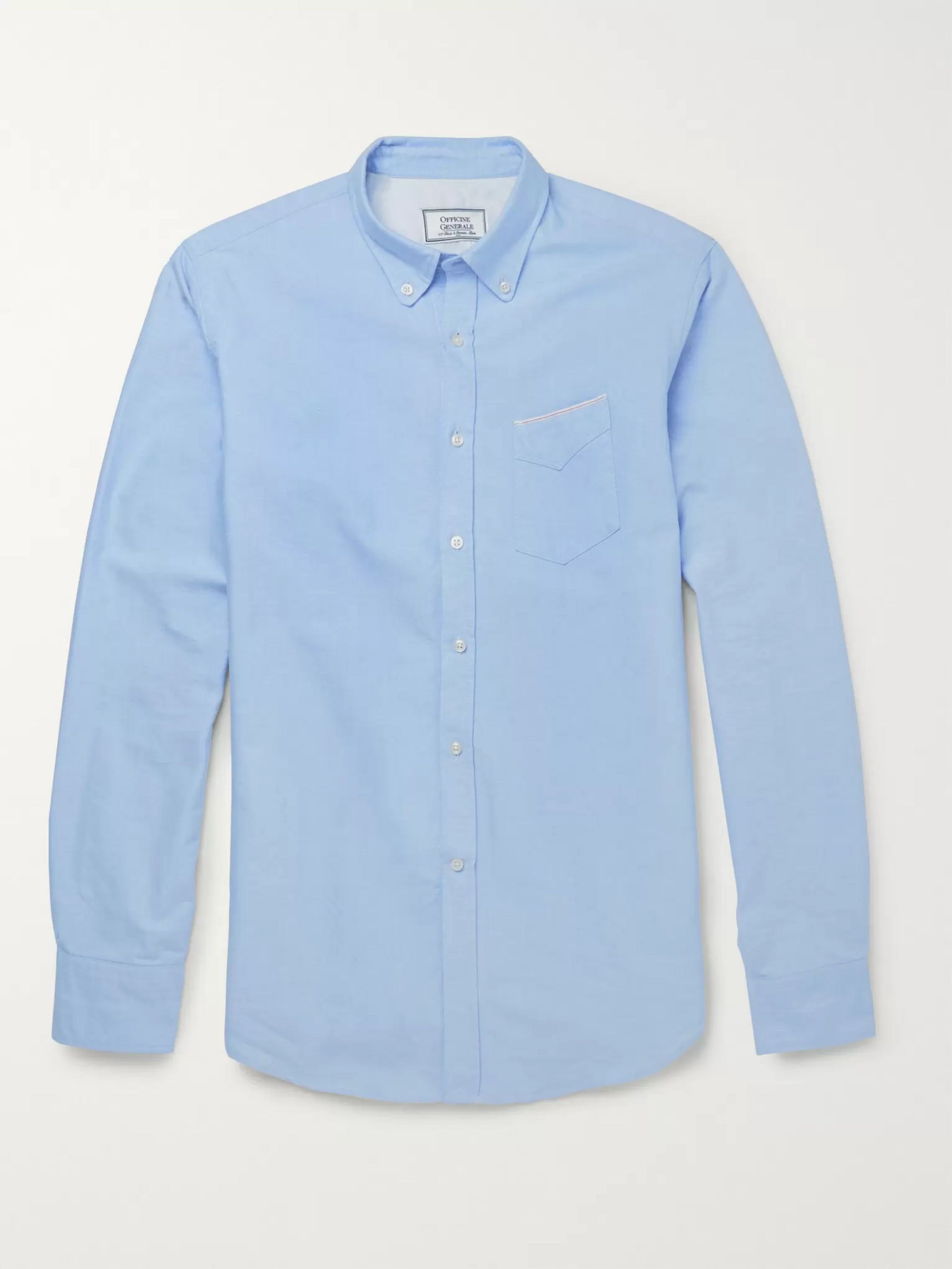 Officine Generale Slim-Fit Cotton Oxford Shirt