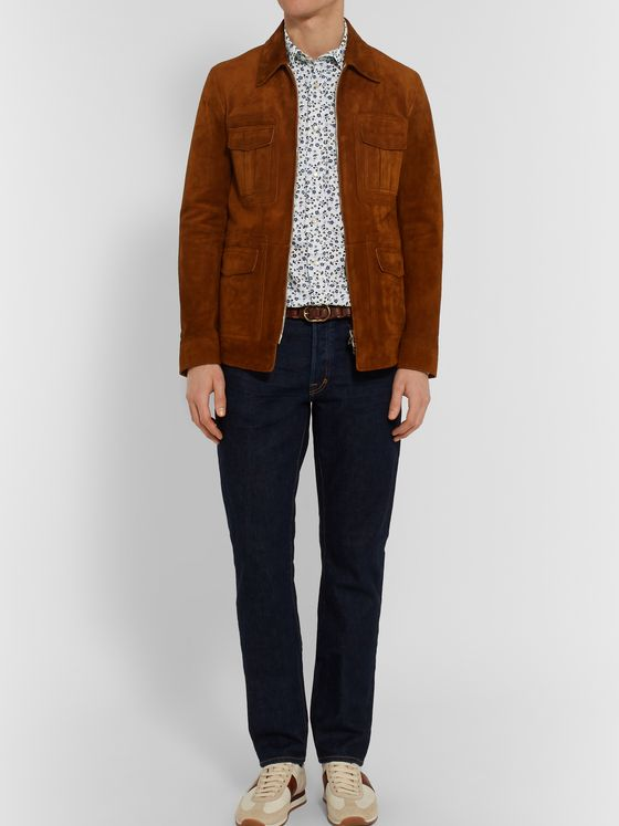 TOM FORD Slim-Fit Floral-Print Cotton-Poplin Shirt