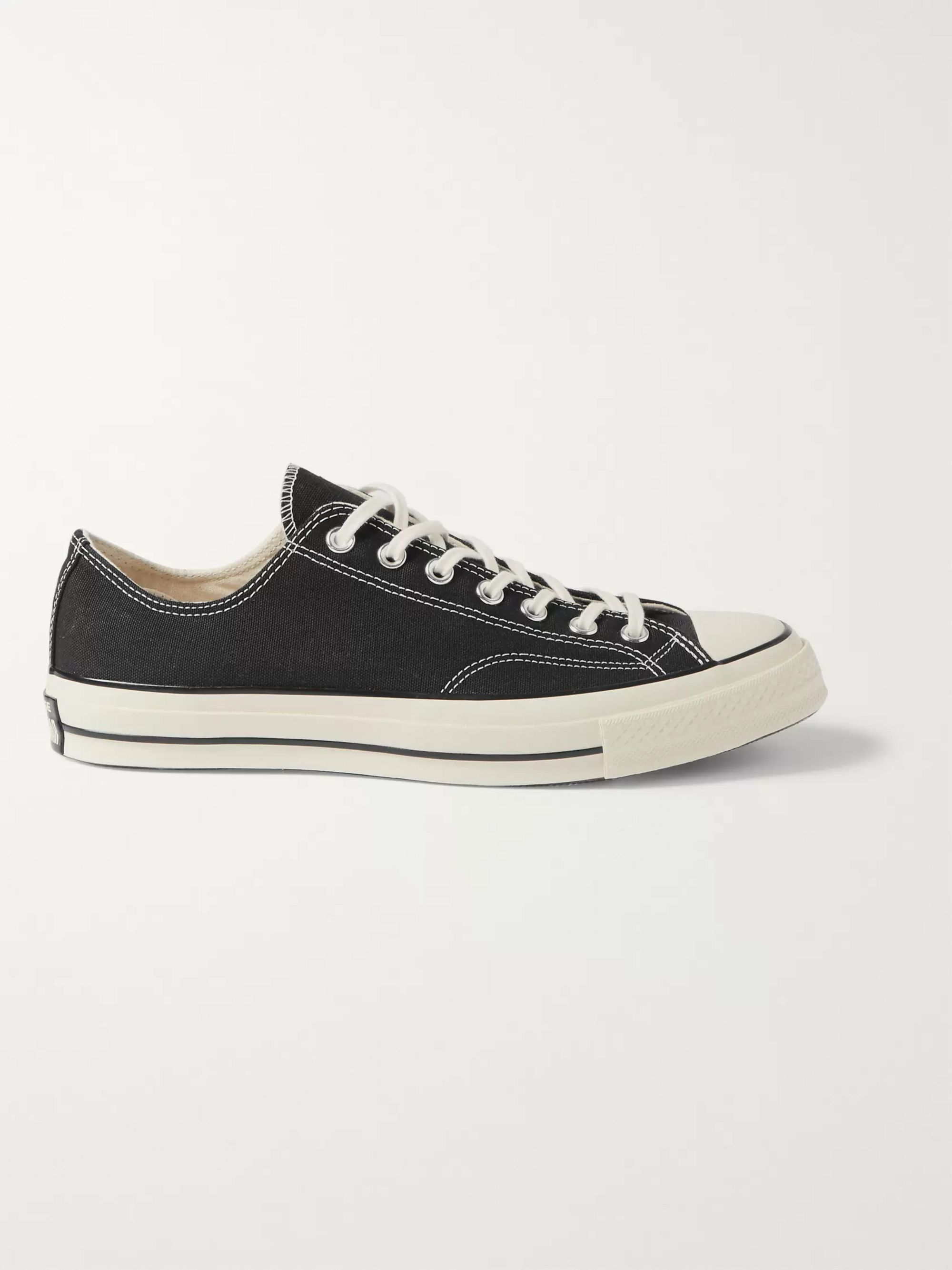 Black 1970s Chuck Taylor All Star Canvas Sneakers | CONVERSE | MR ...