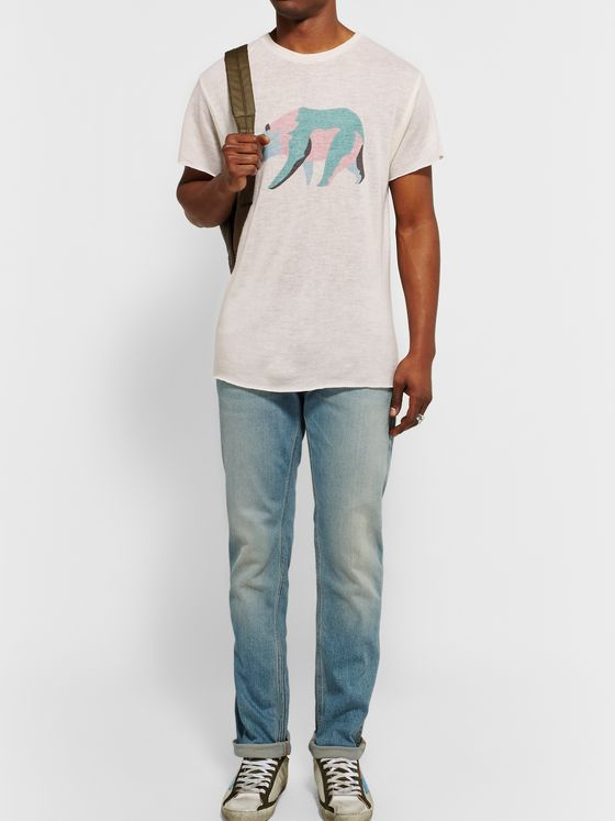 The Elder Statesman Printed Cashmere and Silk-Blend T-Shirt