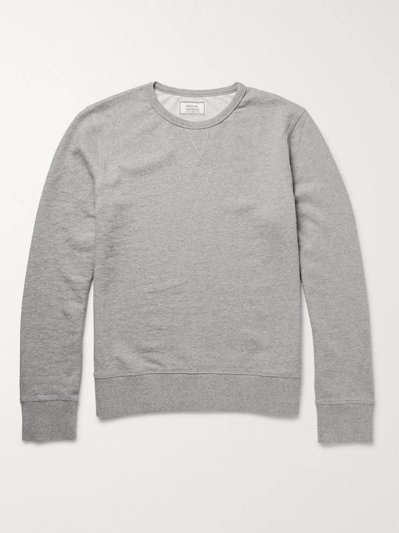 Officine Generale Loopback Cotton-Jersey Sweatshirt