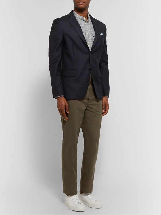OFFICINE GÉNÉRALE Blue Slim-Fit Wool Blazer