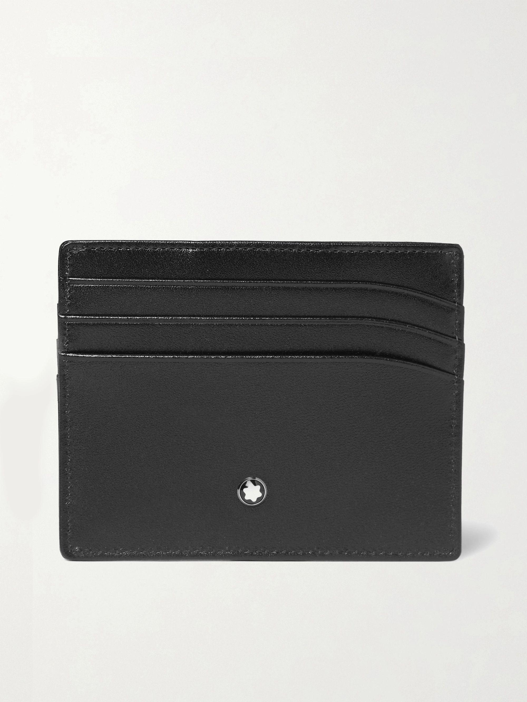 몽블랑 반지갑 Montblanc Meisterstueck Leather Cardholder,Black