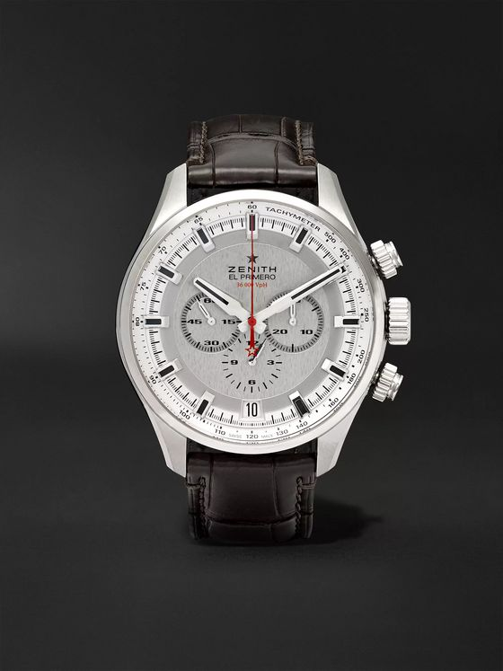 Zenith El Primero Sport 45mm Stainless Steel and Alligator Watch, Ref. No. 03.2280.400/01.C713