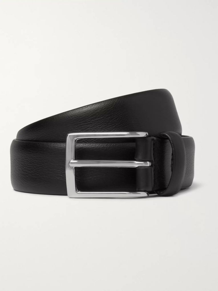 Anderson's Black 3cm Leather Belt