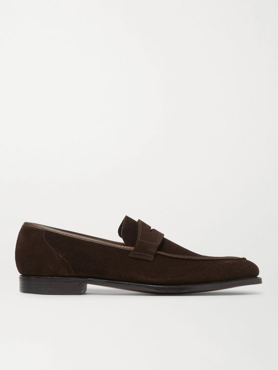 GEORGE CLEVERLEY Suede Penny Loafers