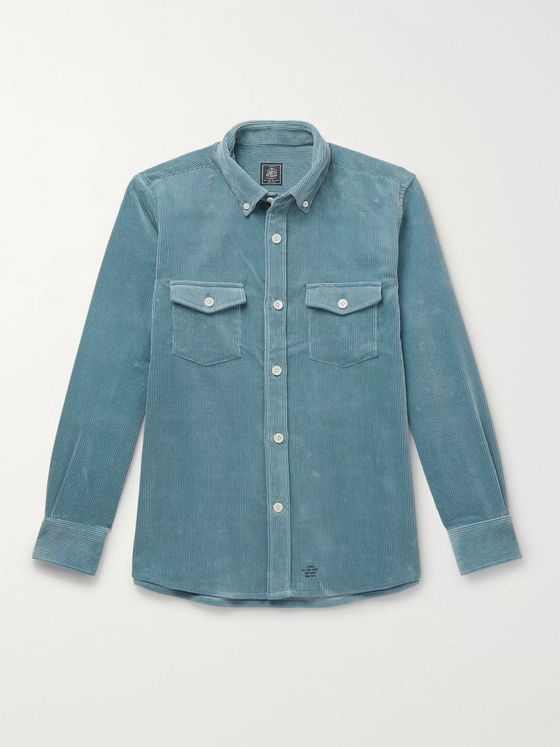 J.Press Button-Down Collar Cotton-Corduroy Shirt