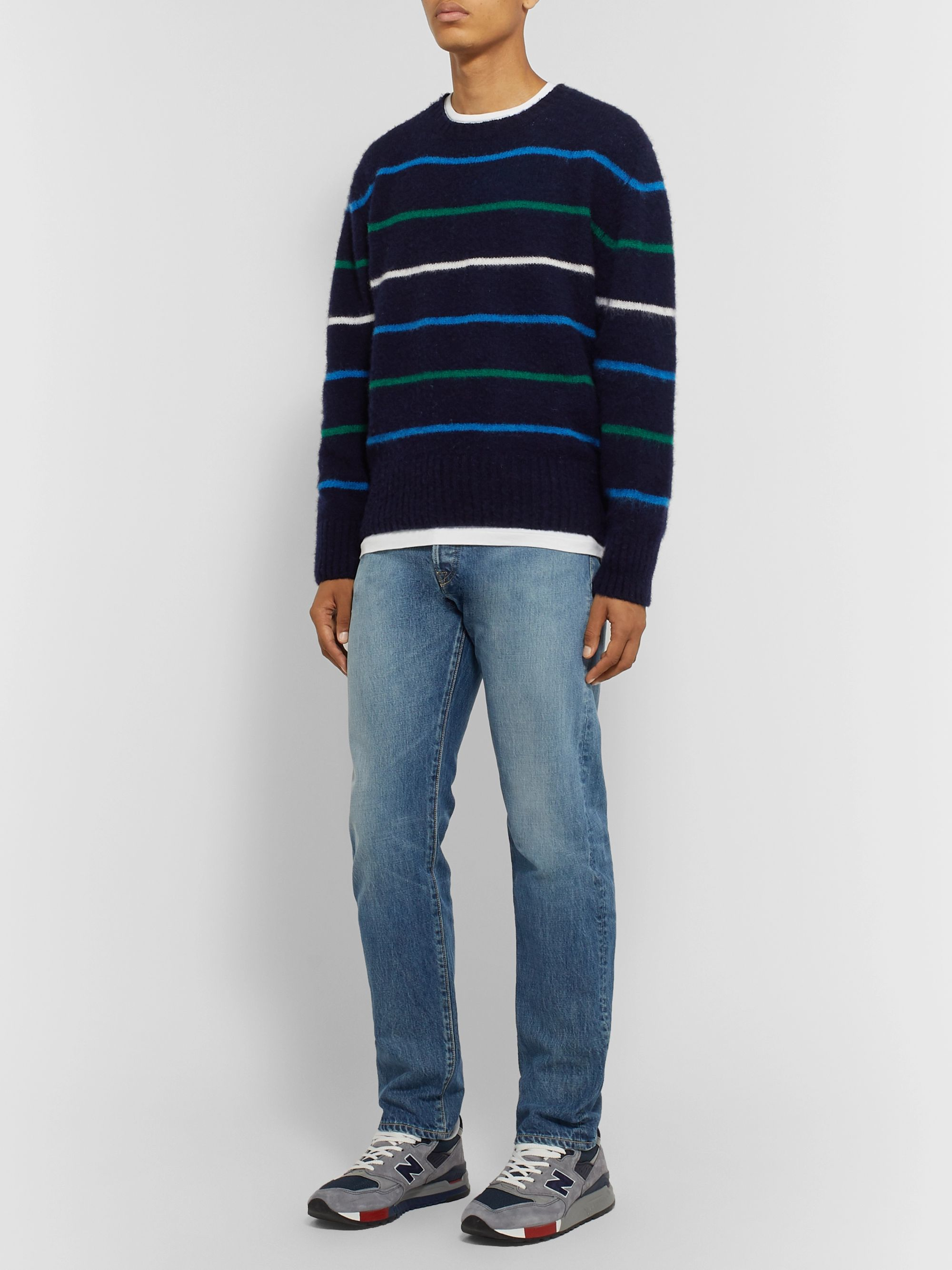 J.Press Striped Wool Sweater