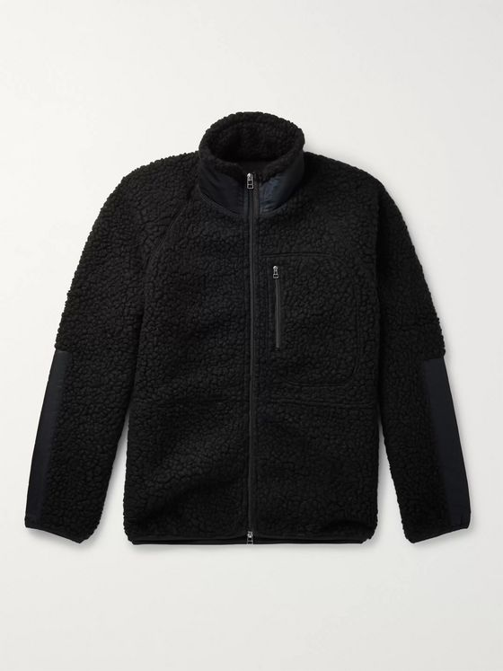 J.Press Shell-Panelled Fleece Jacket