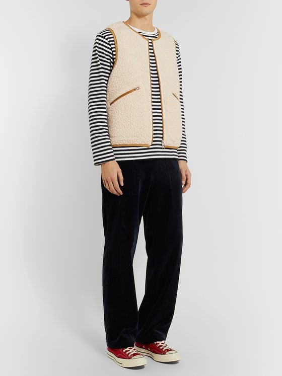 J.Press Contrast-Tipped Fleece Gilet