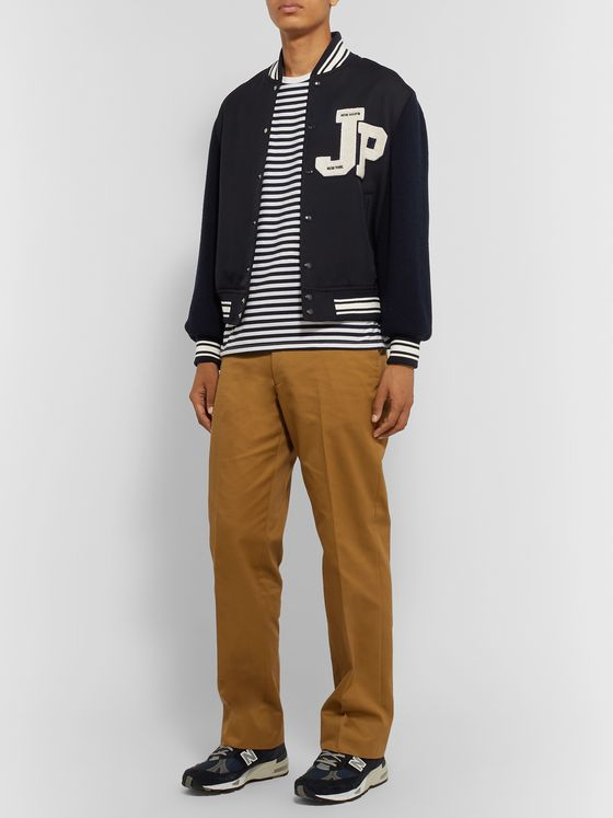 J.Press Logo-Appliquéd Wool Bomber Jacket