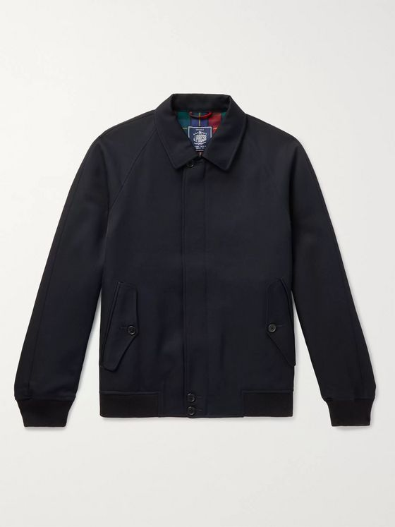 J.Press Wool-Twill Harrington Jacket