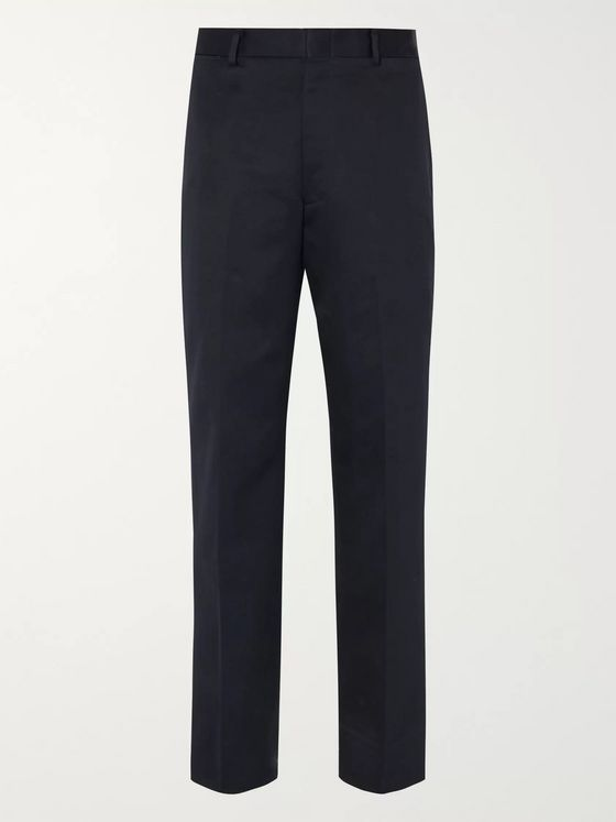 J.Press Navy Cotton-Twill Trousers
