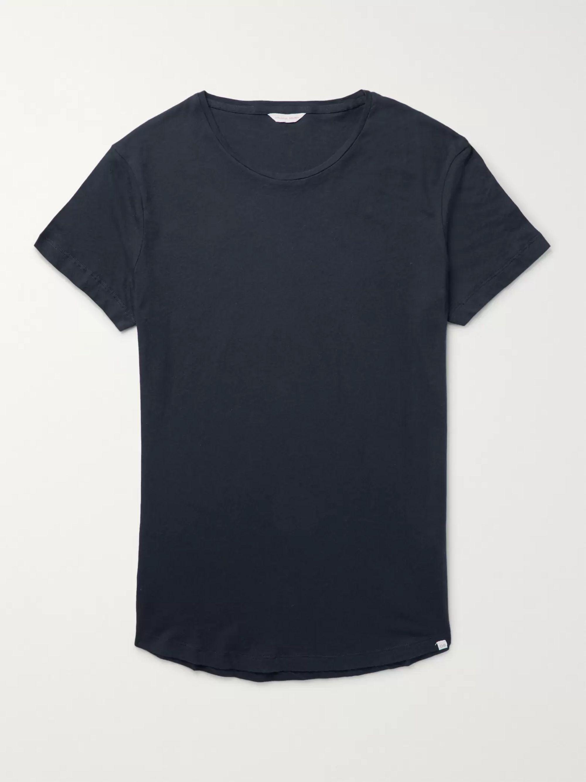 OB T Slim Fit Cotton Jersey T Shirt