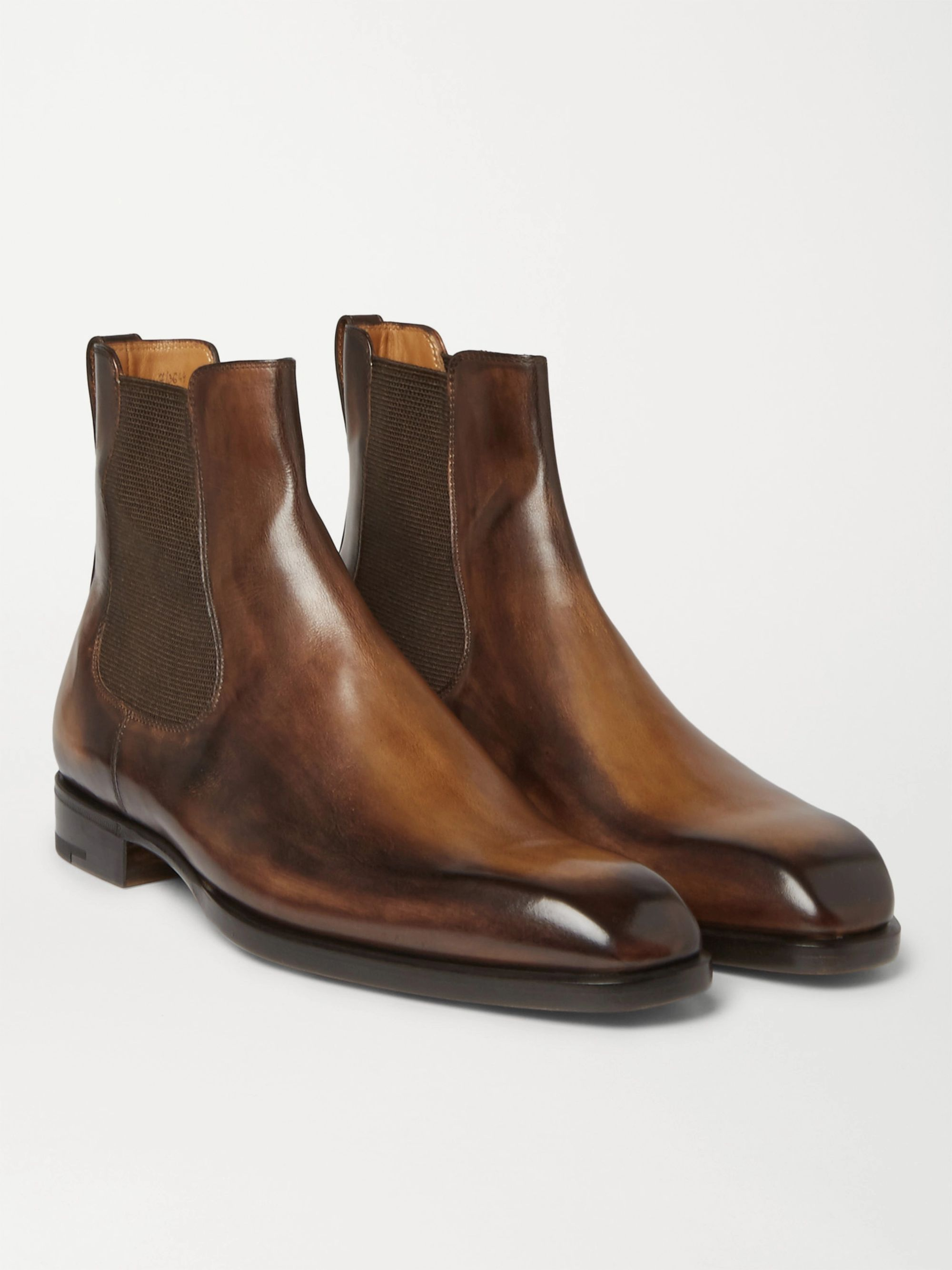 Berluti Leather Chelsea Boots