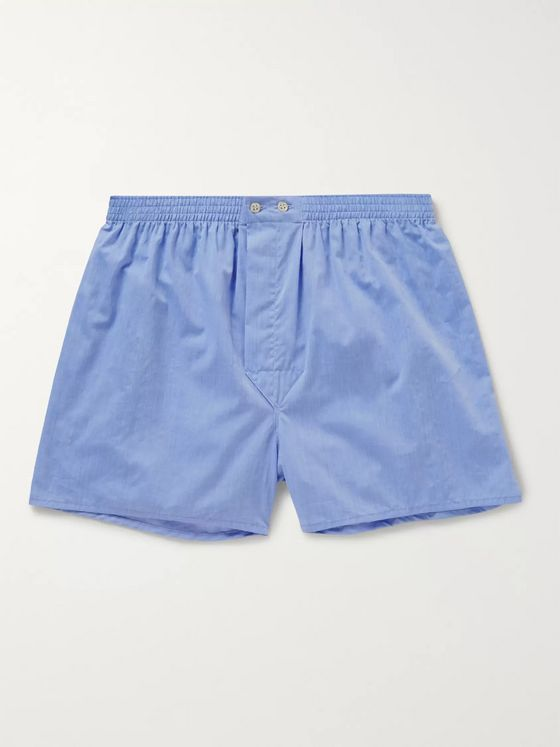 DEREK ROSE Amalfi Cotton Boxer Shorts