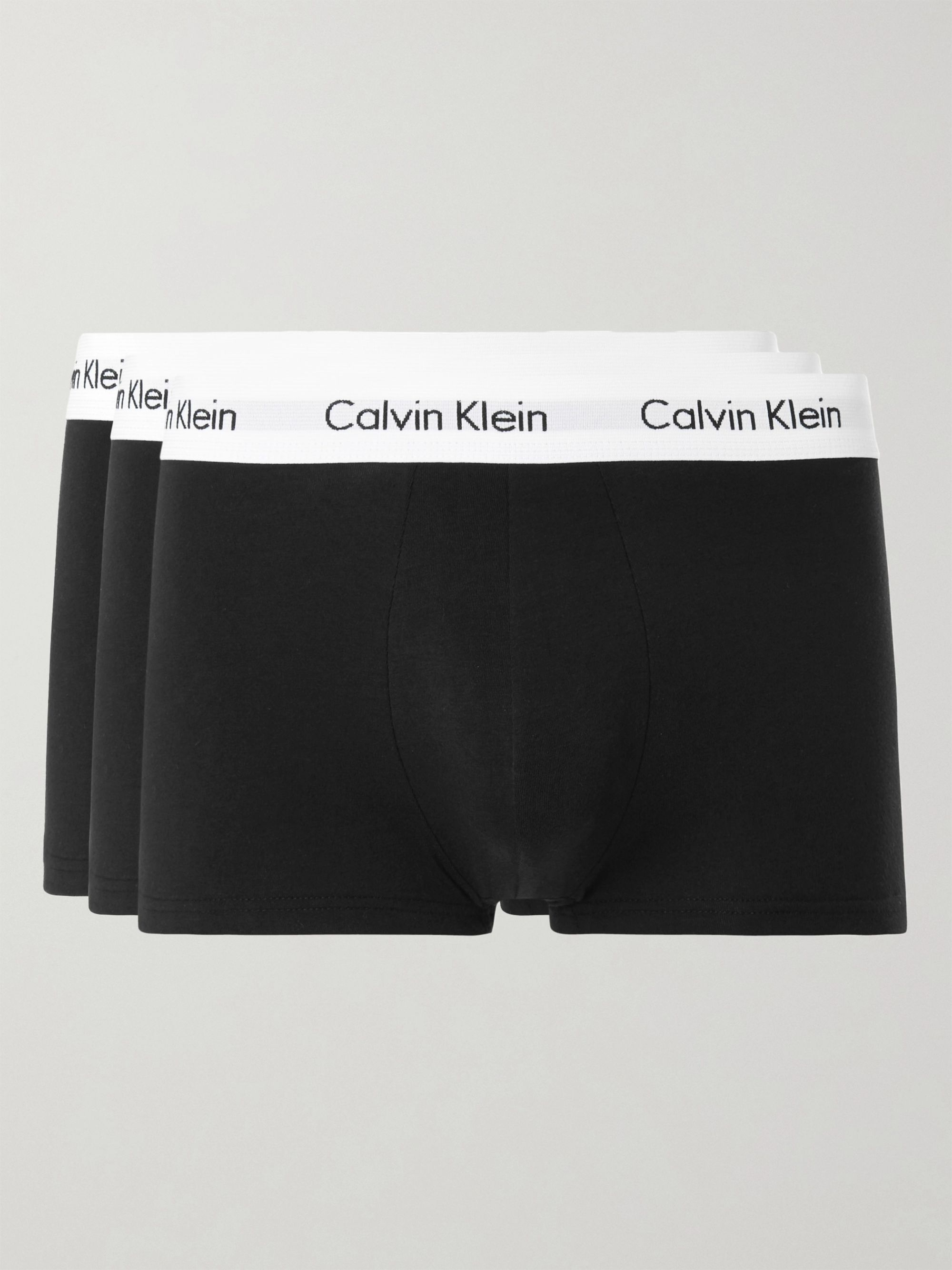 Calvin Klein Underwear Three-Pack Low-Rise Stretch-Cotton Boxer Briefs