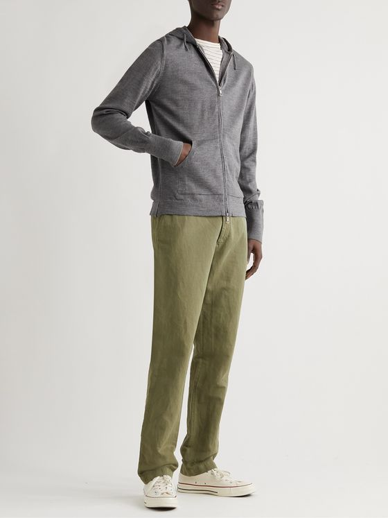 OFFICINE GÉNÉRALE Merino Wool Zip-Up Hoodie