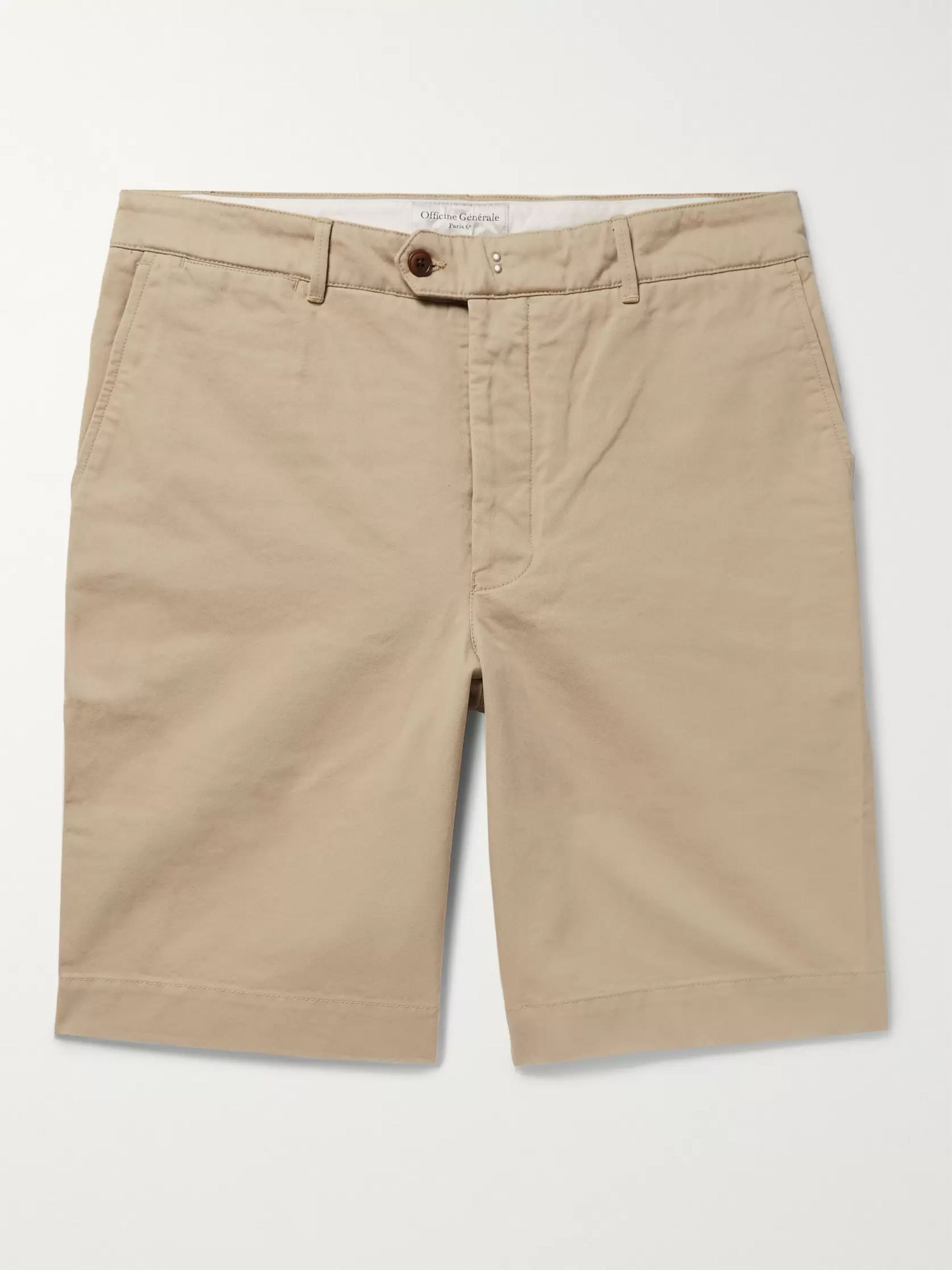 Officine Generale Fisherman Cotton-Twill Shorts