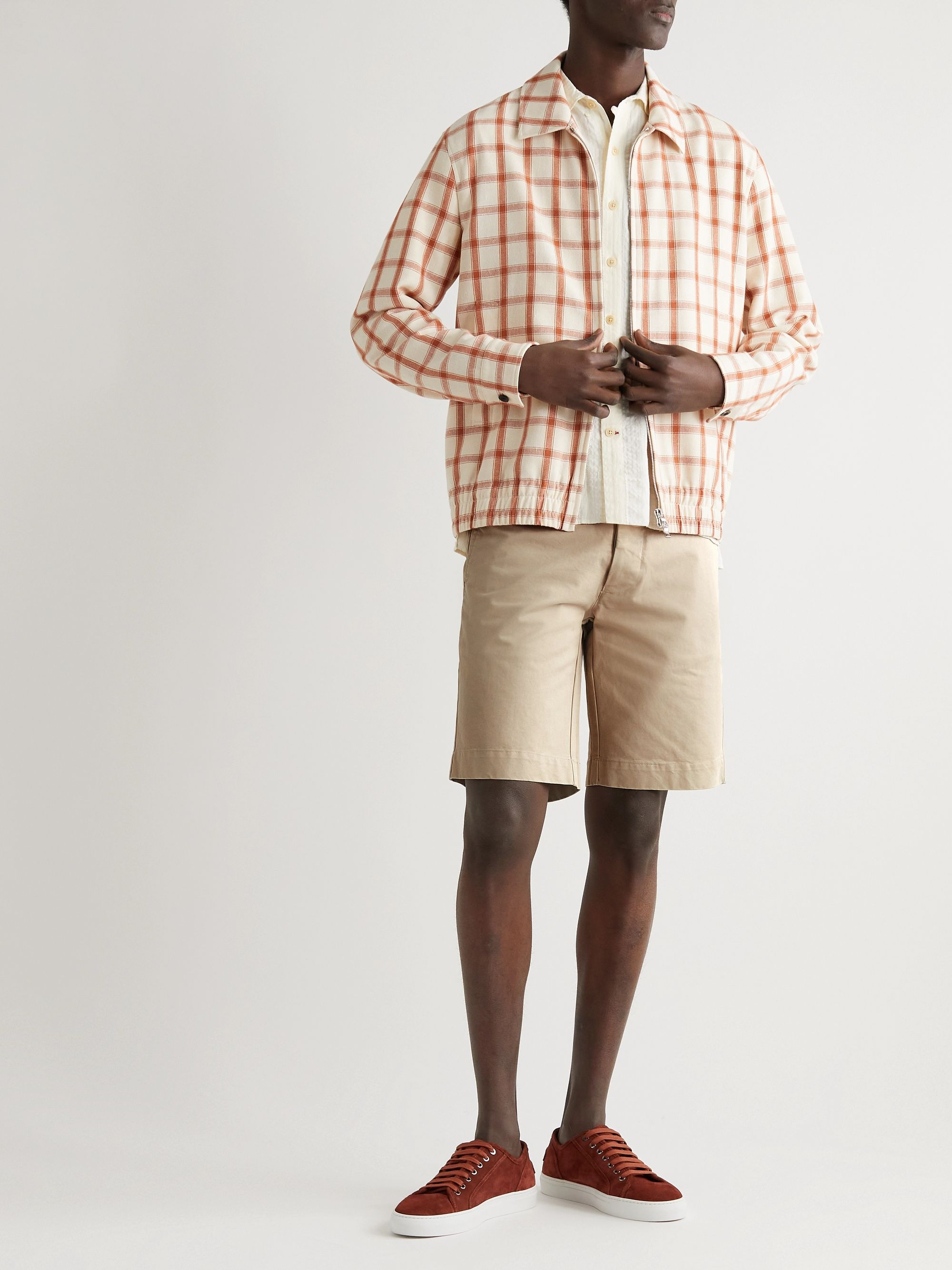 OFFICINE GÉNÉRALE Fisherman Cotton-Twill Shorts