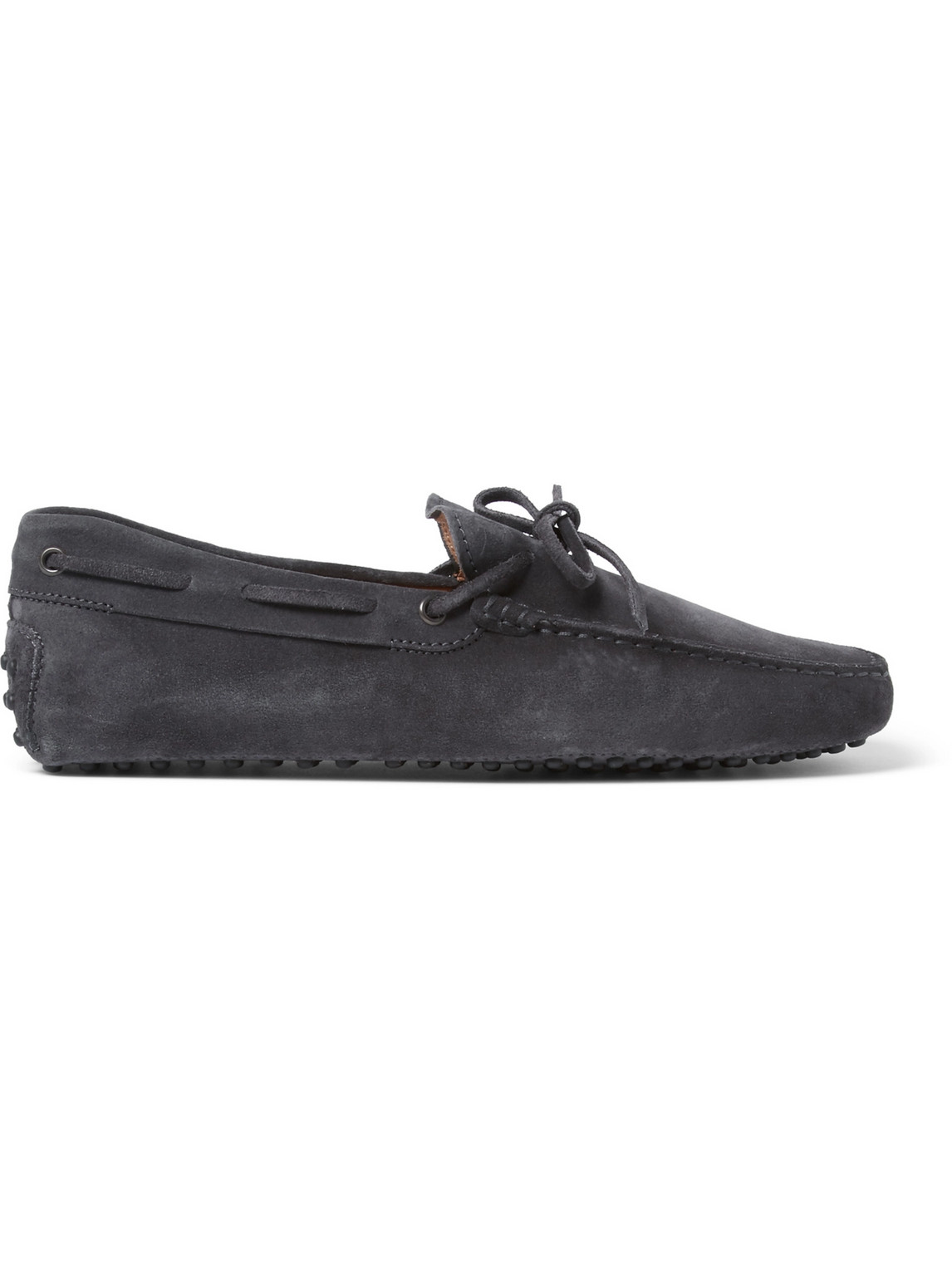 Tod's - Gommino Suede Driving Shoes - Men - Gray - 6