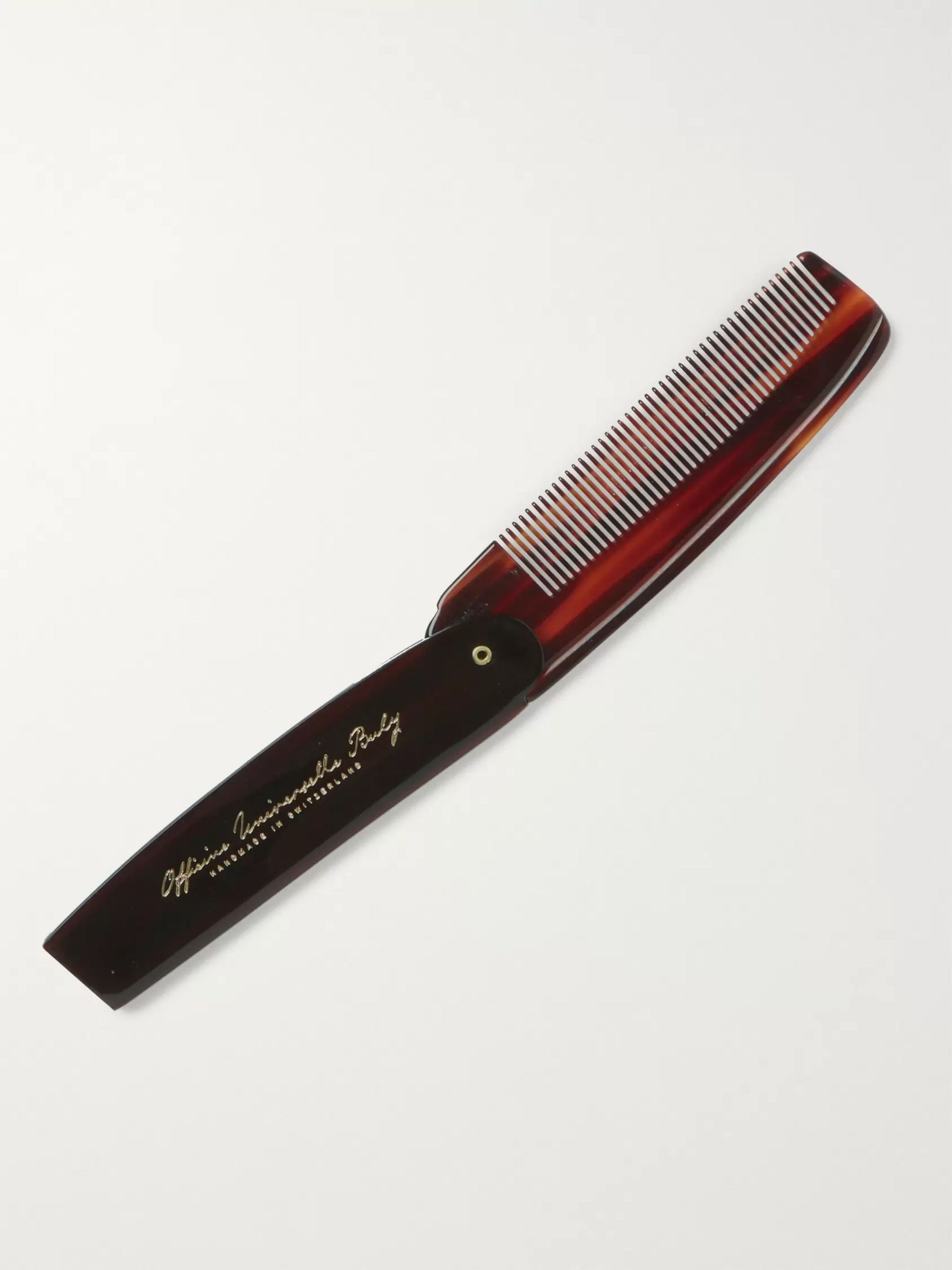 Buly 1803 Horn-Effect Acetate Folding Comb