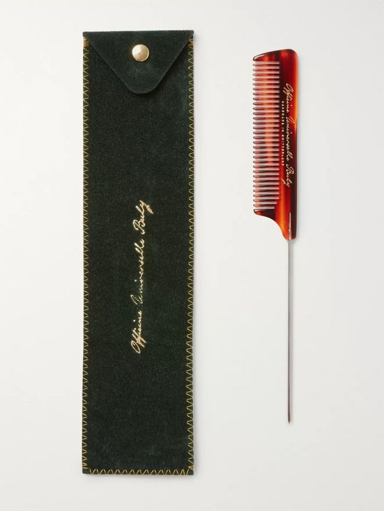 Buly 1803 Horn-Effect Acetate Tail Comb
