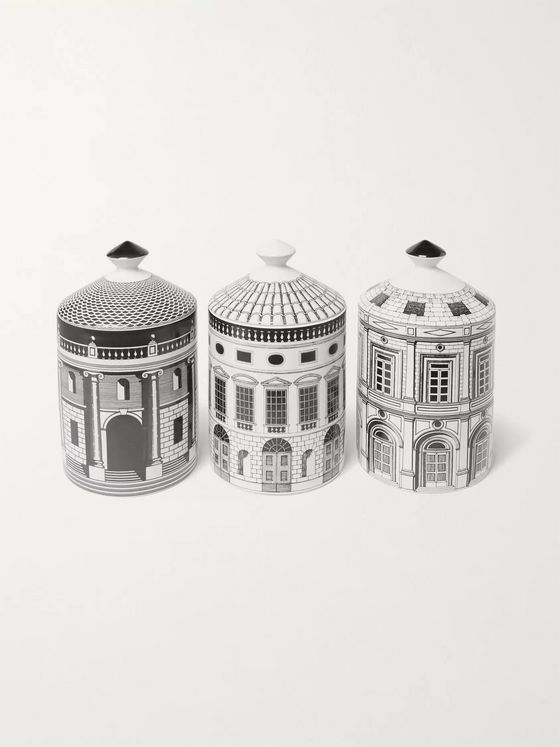 Fornasetti Ordine Architettonico Scented Candle Set, 3 x 300g
