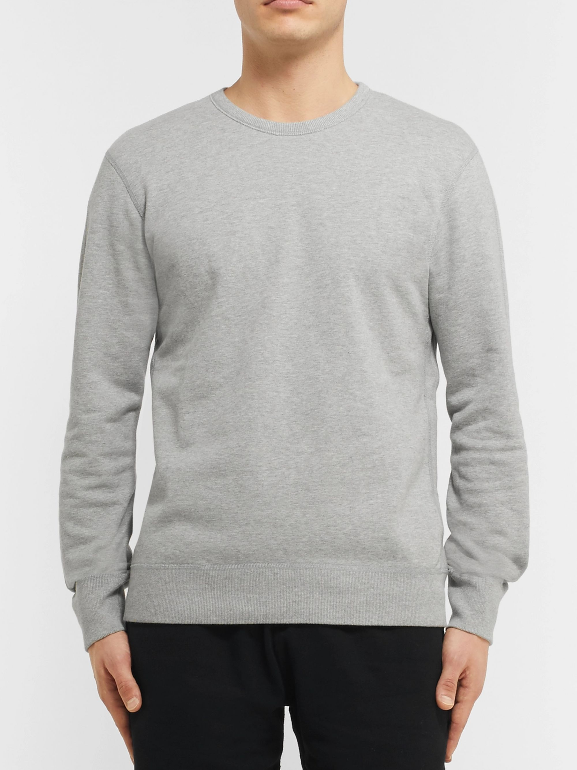 REIGNING CHAMP Loopback Cotton-Jersey Sweatshirt