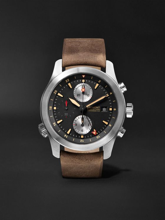 Bremont ALT1-ZT/51 Automatic GMT Chronograph 43mm Stainless Steel and Leather Watch, Ref. ALT1-ZT-BK-R-S