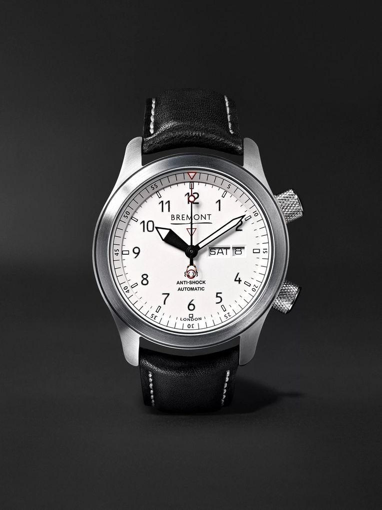 Bremont MB II 43mm Stainless Steel and Leather Watch, Ref. No. MBII-WH
