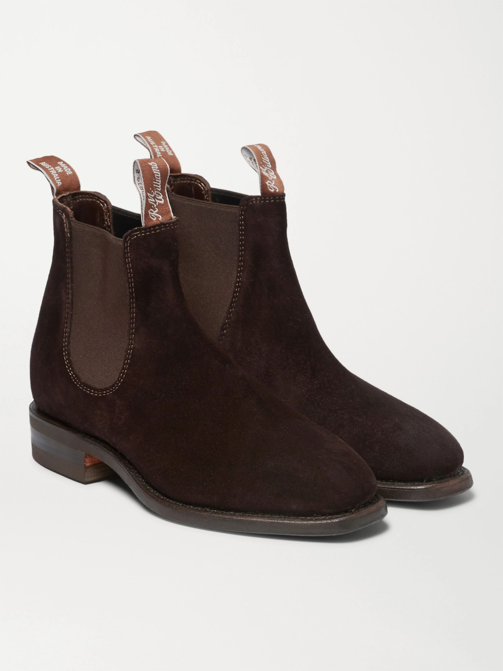 R.M.Williams Comfort Craftsman Suede Chelsea Boots