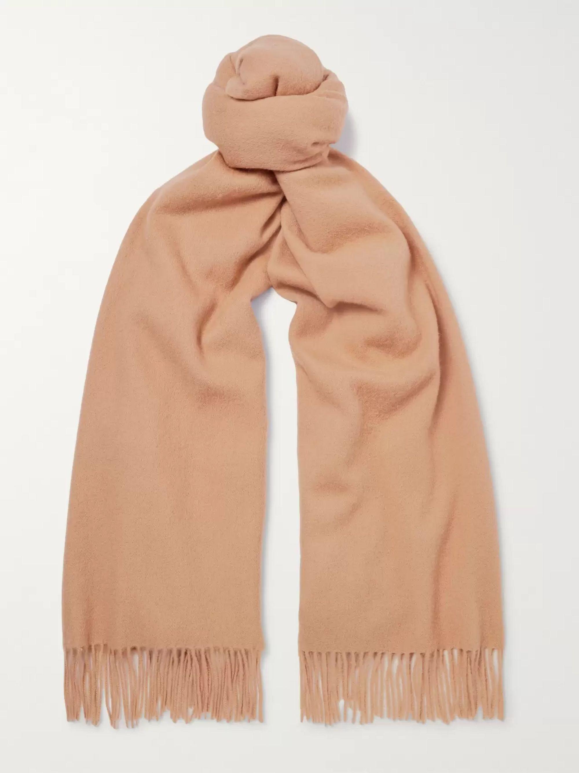 멀베리 스카프 Mulberry Fringed Wool Scarf,Camel