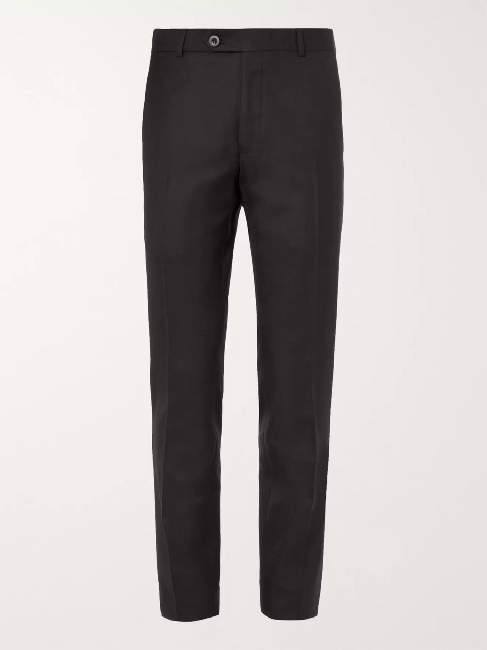 Mr P. Slim-Fit Grey Worsted Wool Trousers