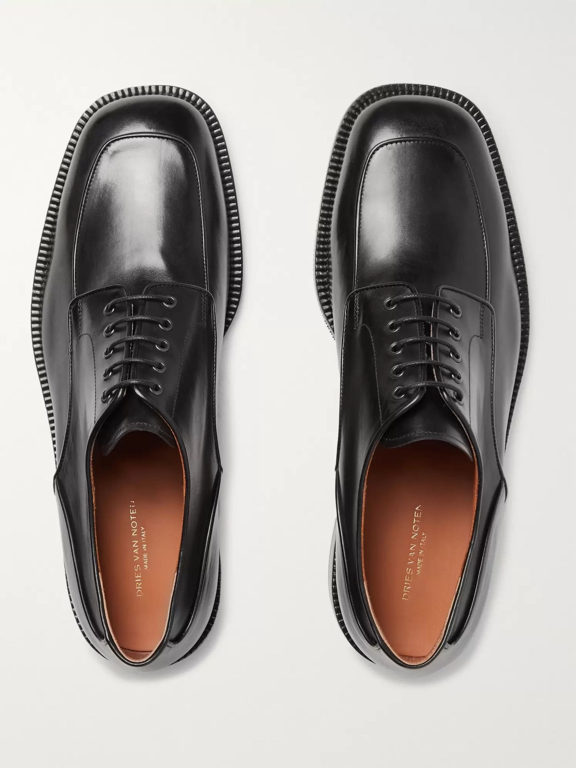 Polished Leather Derby Shoes