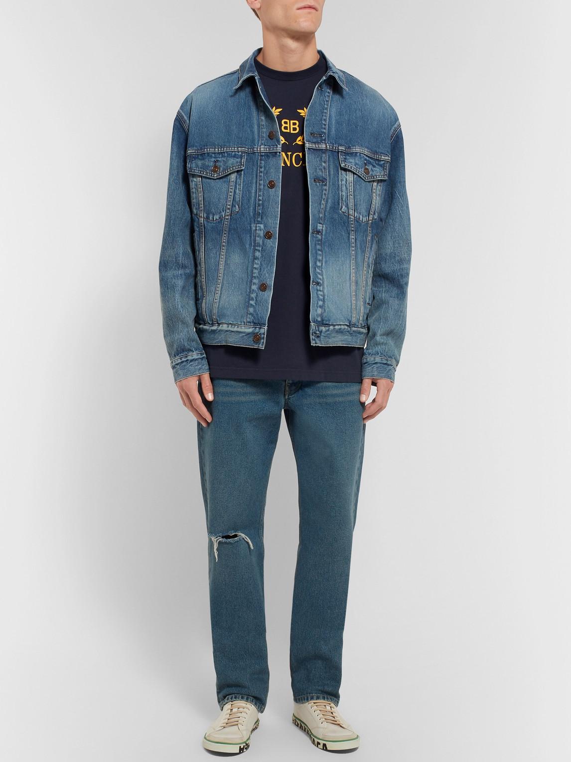 Balenciaga T-shirts LOGO-PRINT COTTON-JERSEY T-SHIRT