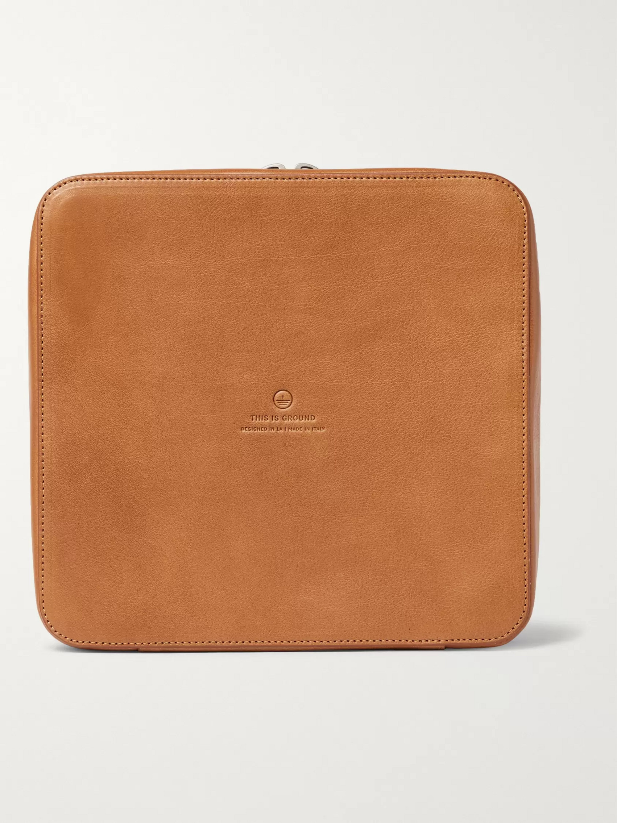 This Is Ground Grande Tech Dopp Kit Leather Travel Organiser