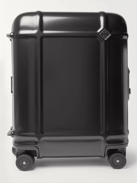 FPM Milano Globe Spinner 55cm Leather-Trimmed Polycarbonate Carry-On Suitcase