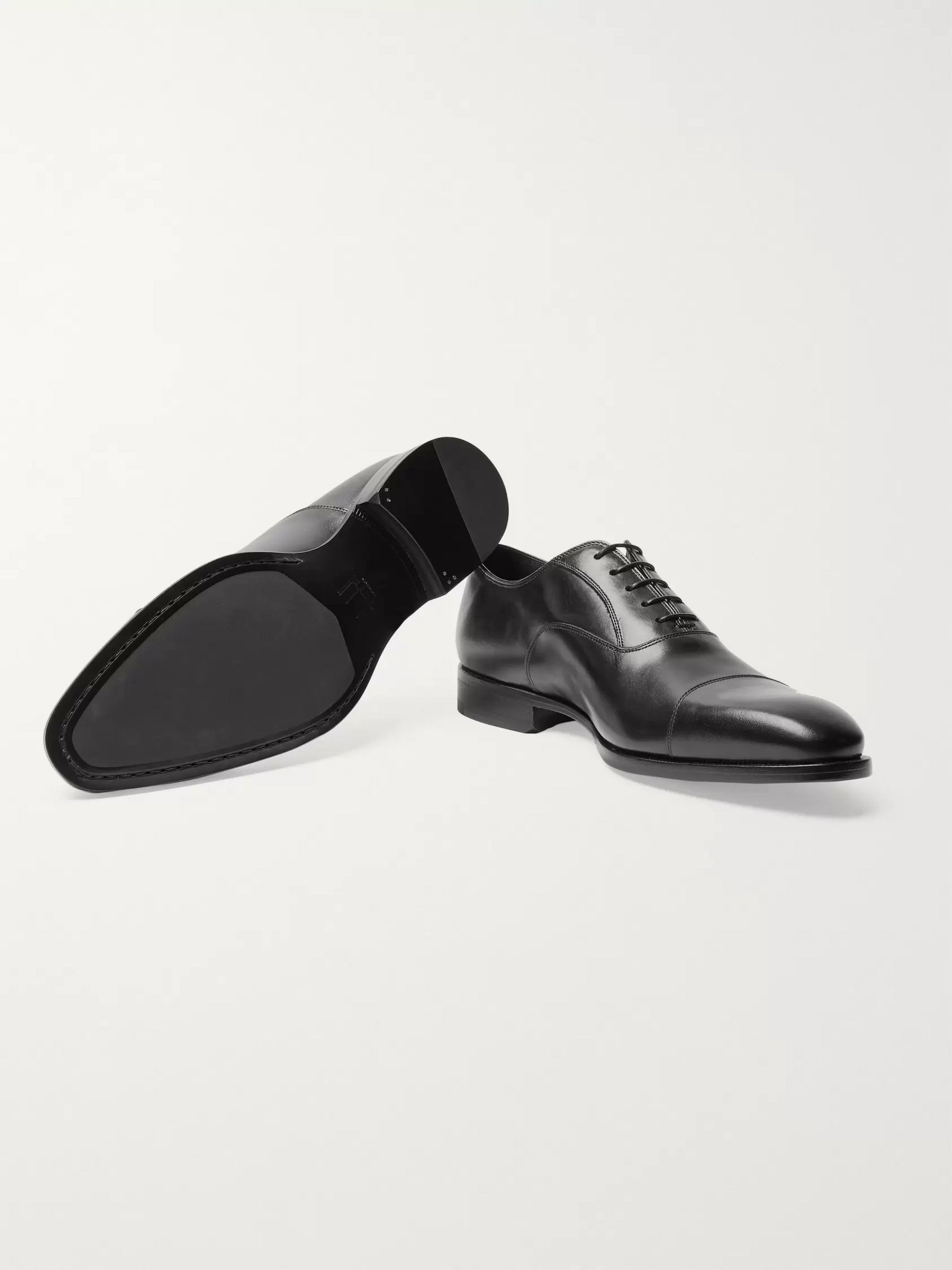 Dunhill Elegant City Leather Oxford Shoes