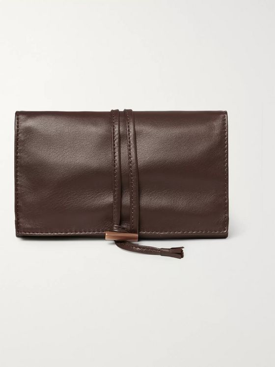 Lorenzi Milano Leather Jewellery Roll