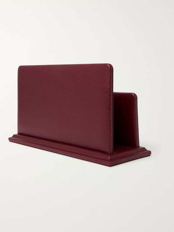 Purdey Textured-Leather Letter Rack