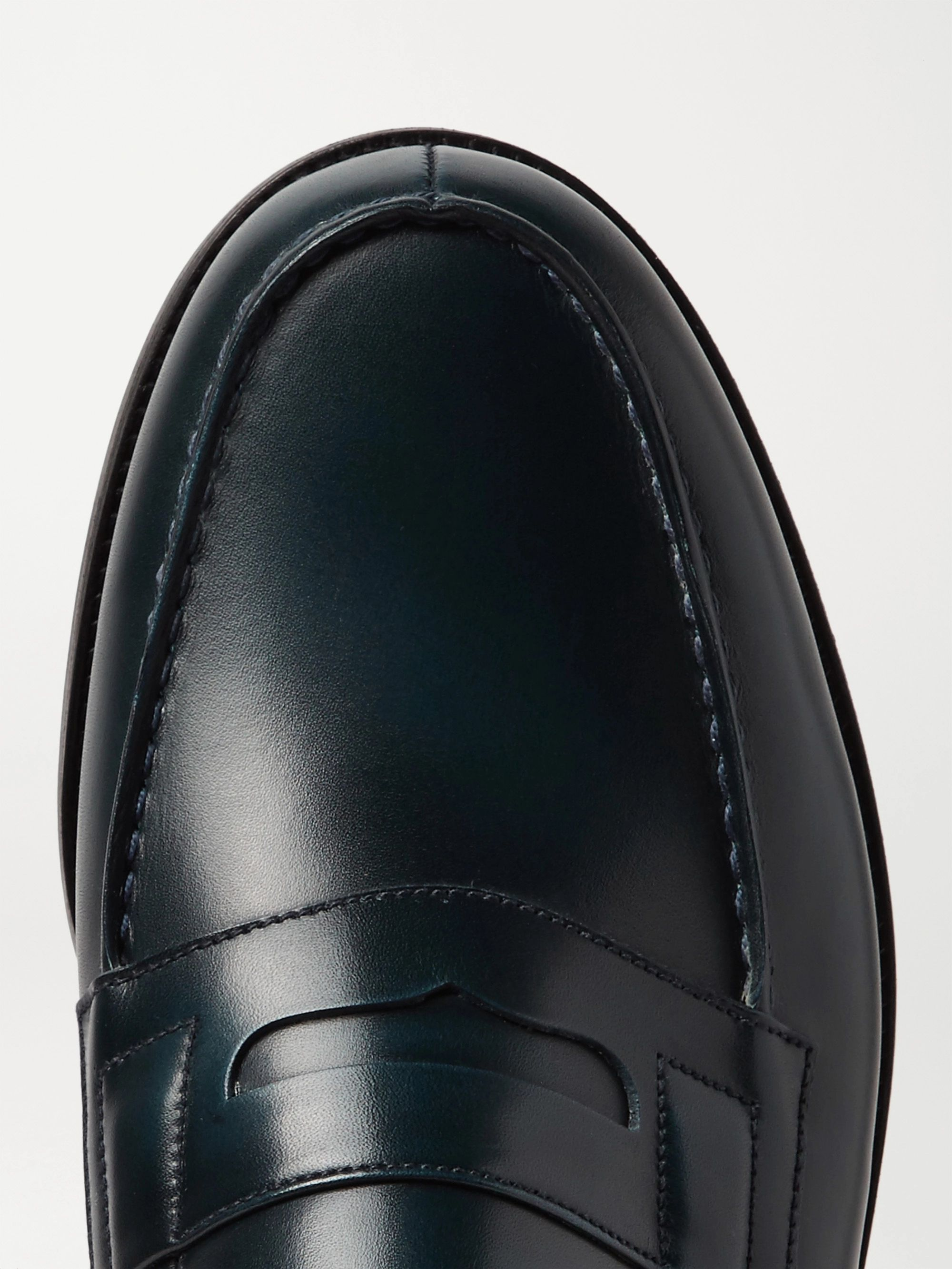 J.M. Weston Leather Penny Loafers