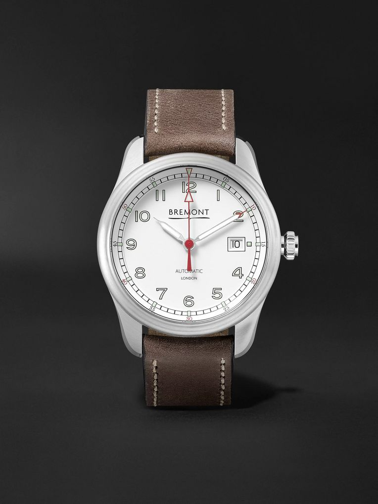 Bremont Airco Mach 1 Automatic Chronometer 40mm Stainless Steel and Leather Watch