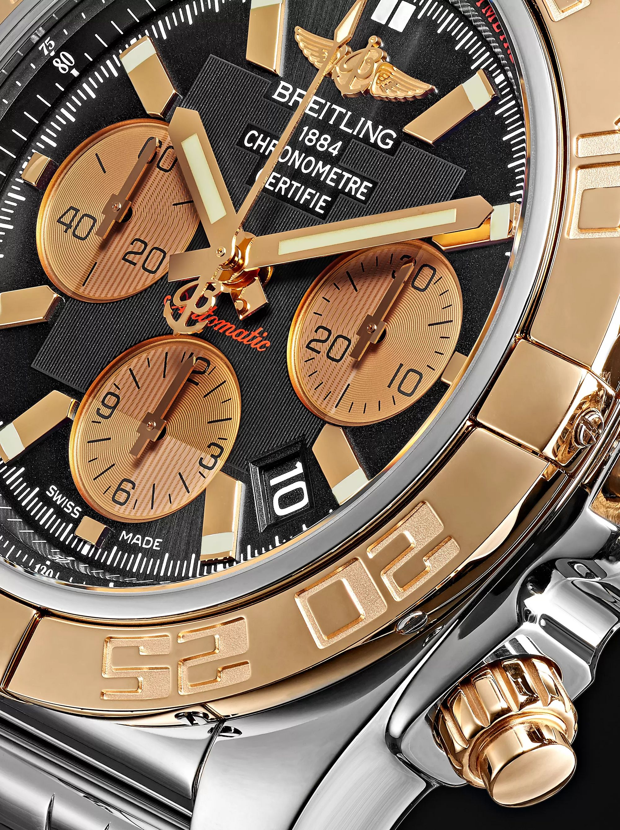 Breitling Chronomat B01 Chronograph 44mm Stainless Steel and Gold Watch, Ref. No. CB0110121B1C1