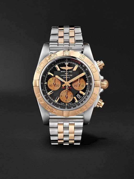 Breitling Chronomat B01 Automatic Chronograph 44mm Stainless Steel and 18-Karat Red Gold Watch, Ref. No. CB0110121B1C1