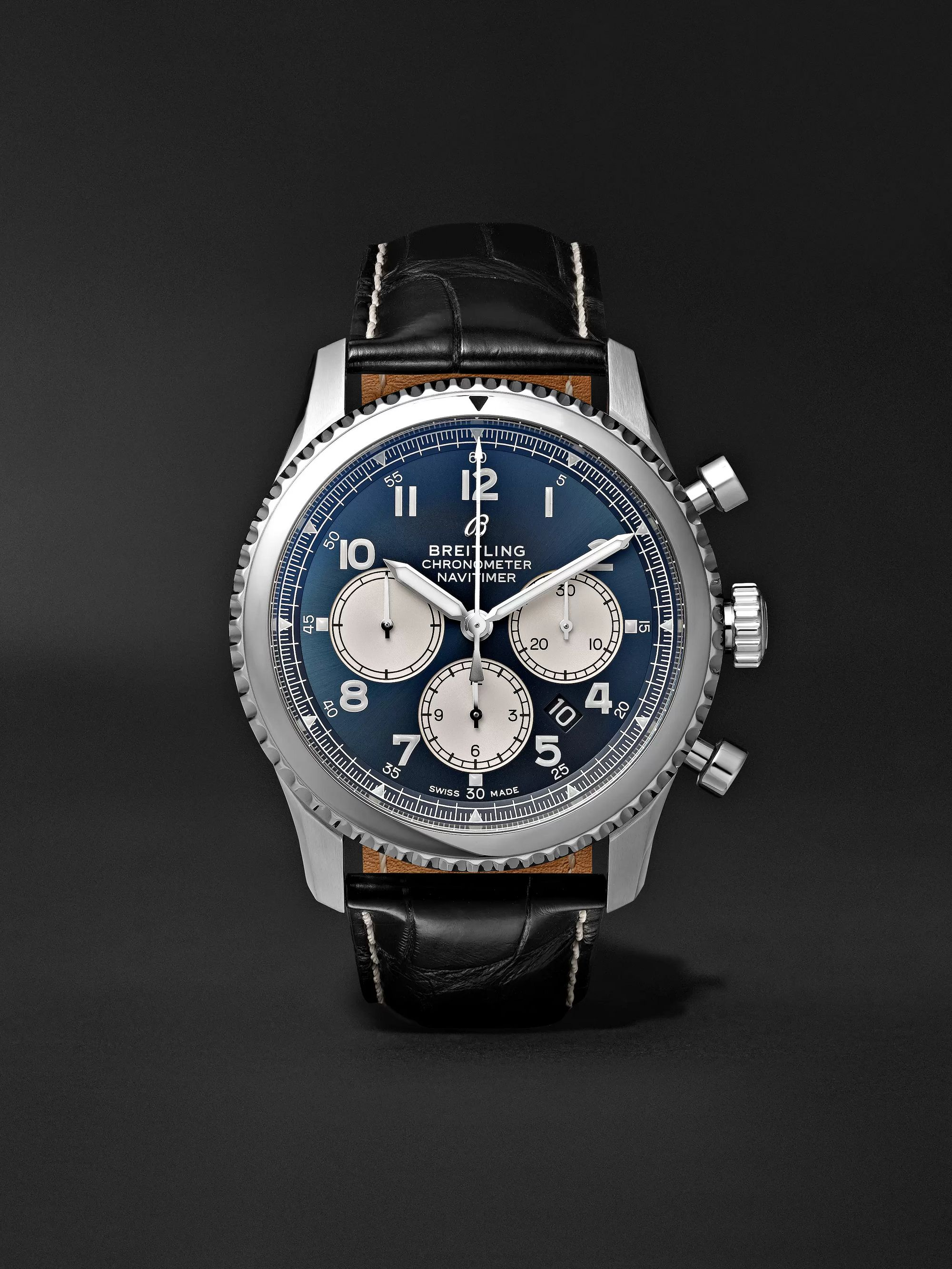 Breitling Navitimer 8 B01 Chronograph 43mm Stainless Steel and Alligator Watch, Ref. No. AB0117131C1P1